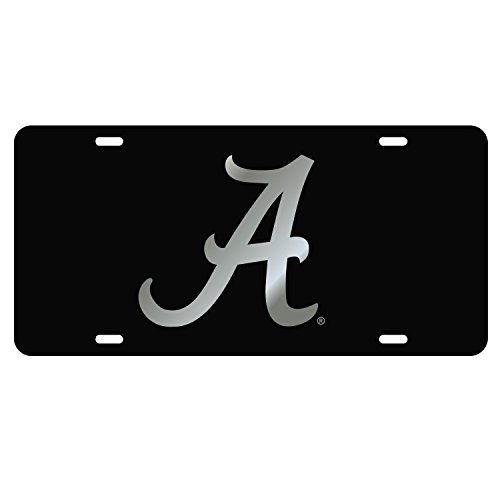 Craftique The University of Alabama Silver on Black A Laser Cut Inlaid Mirror -