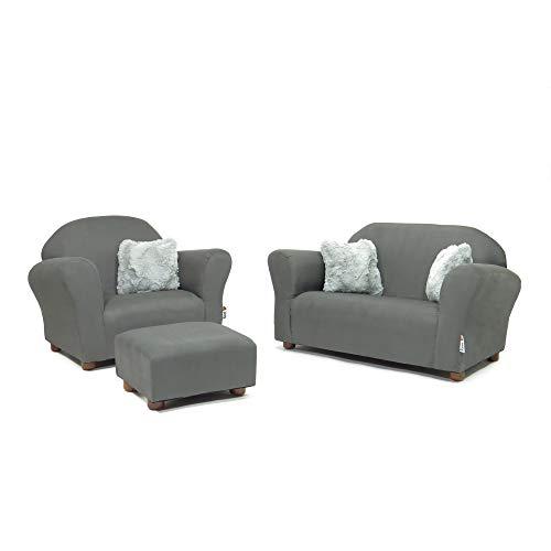 (Keet Plush Childrens Set, Sofa, Chair and Ottoman,)
