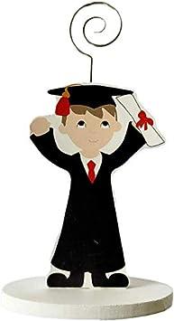 DISOK - Lote 20 Pinzas Portafotos Madera GRADUACIÓN NIÑO. Detalles de graduación para regalar. Regalos para la graduación de los niños.