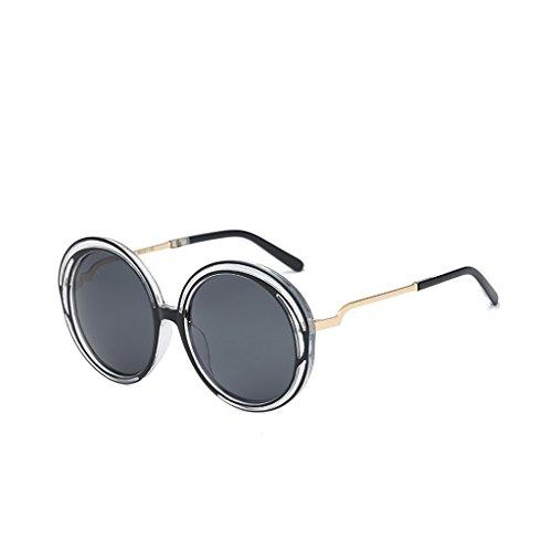 Face Vintage Light F Párrafo Sunglasses Female Celebrity Sol Fashion Marea Gafas Round Box El The De YUBIN Big Polarized New Color Mismo 1nwxOqCTH