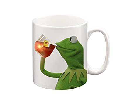 Funny Frog Cartoon Meme : Kermit none of my business meme mug funny mugs coffee mug tea mug