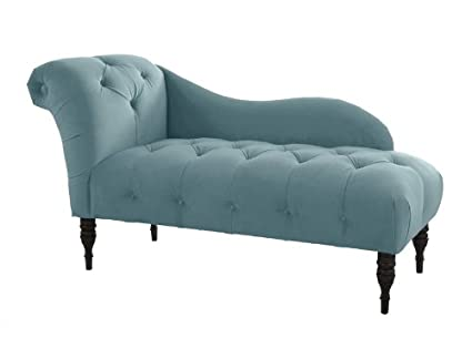 Skyline Furniture Tufted Fainting Sofa, Velvet Caribbean