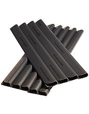 Enjoy-Quality 24 stuks PVC - zichtwerende strips - klemrails - zichtwering / windscherm voor tuin en omheining - bevestigingsclips - dubbelstaafmattenhek - universeel (antraciet)