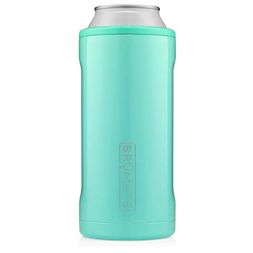 BrüMate Hopsulator Juggernaut Double-walled Stainless Steel Insulated Can Cooler For 24 Oz And 25 Oz Cans (Aqua)