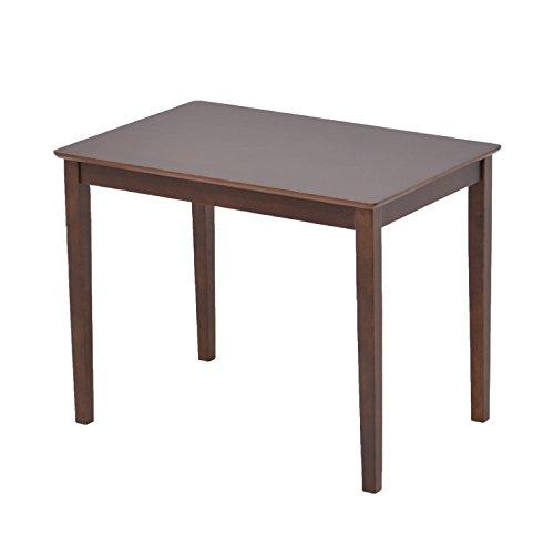 幅90cm×60cm ダイニングテーブル pot90-360dbr ダークブラウン色 コンパクト ミニテーブル ダイニング 木製 B07DG3KSGH