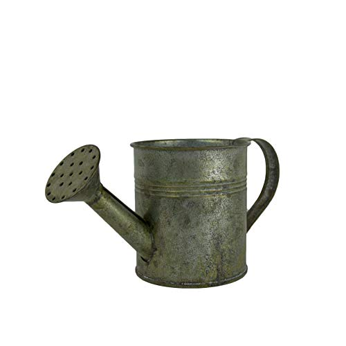(Better Crafts Tin Watering Can in Antique Gray for Rustic Yard Decorations, Crafting, and Planters.)