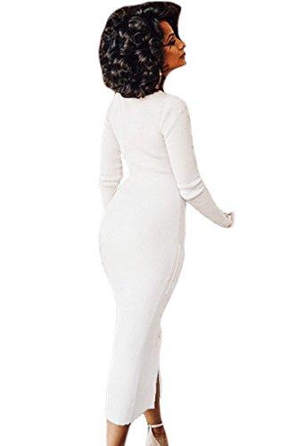 Neue Frau Creme Popper vorne Cardigan Pullover Kleid Jumper Kleid Büro Kleid Casual Abend Party Wear Größe M UK 10–12EU 38–40