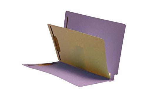 (11 Pt. Lavender Folders, Full Cut End Tab, Letter Size, 1 Divider Installed, Mylar Reinforced Spine (Box of 40))