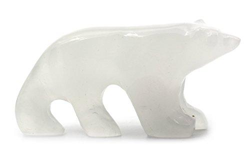 Tranquil White Onyx Aragonite Polar Bear, 2