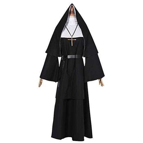 Horror Movie Conjurings's Nun Costumes Halloween Cosplay for