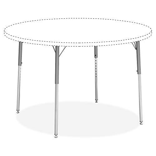 (Lorell 99926 Classroom Activity Table Standard Height Adjustable Kit Leg, Chrome, Silver Mist )
