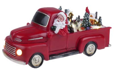 Mr. Christmas 22842 Animated Red Truck Holiday Decoration One Size Multi ()