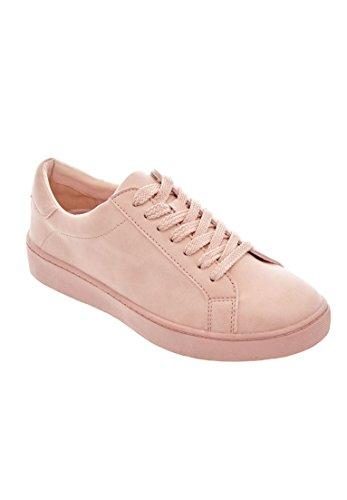 Comfortview Women's Plus Size Jamie Vintage Leather Sneaker Blush,11 W