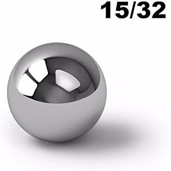 "1000 3//32/"" Inch G25 Precision Chromium Chrome Steel Bearing Balls AISI 52100"