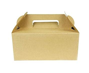 Mannily - Caja de regalo de papel kraft con asas, 20 ...
