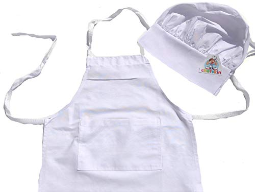 Children Chef Set Apron Hat Small (Small (Fits 2-7 Year Olds))]()