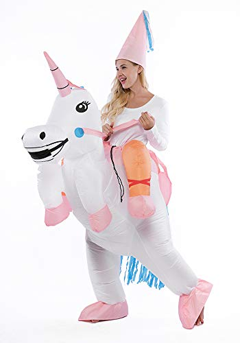 Inflatable Costume for Child or Adults, Halloween Boys Girls Dinosuar Costume, Women Men Unicorn Cotume, Unicorn-Adult -