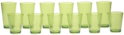 Certified International 12-Piece Hammered Glass Acrylic Hammered Drinkware Set