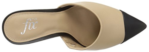 The Fix Womens Jenkins Choked-up Pointed Toe Mule Dove/Black gSMUKrW