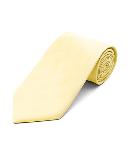 Boy's Solid Color Poly Ties, 15.light yellow