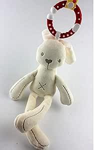 Baby Soft  Bunny Plush Doll Baby  Crib Bed Hanging Animal