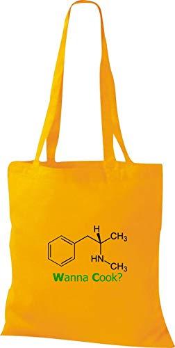 jaune en cuisiner tissu chemise à doré Sac pour Srukturformel la n1xwCxqd58