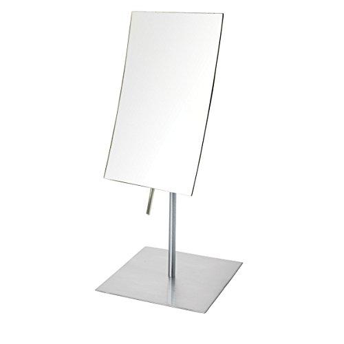 Nickel Adjustable Pop - Jerdon JP358N 3X Magnified Tabletop Rectangular Adjustable Mirror, Nickel, 51.2 Ounce