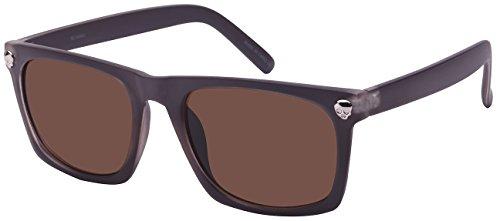 Edge I-Wear Square Frame Skull Sunglasses with Solid Lens - Sunglasses Skull Frame