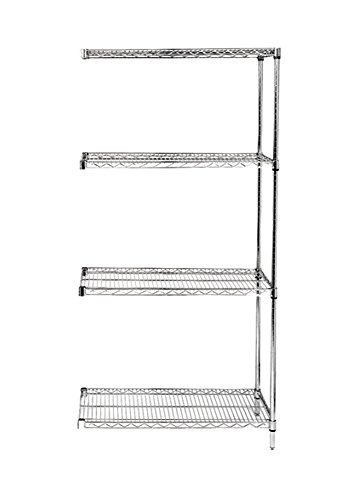 "Review Quantum Storage Systems Wire 4-shelf Add-on Unit - 18"" x By Quantum Storage Systems by Quantum Storage Systems"