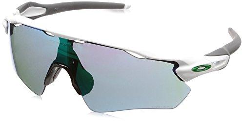 Oakley Men's Radar Ev Path Non-Polarized Iridium Rectangular Sunglasses, Polished White, 0 mm