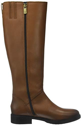 Donna TH Leather Hilfiger Boot Riding Tommy Basic Stivali Marrone Alti Cognac 606 8gxBqn