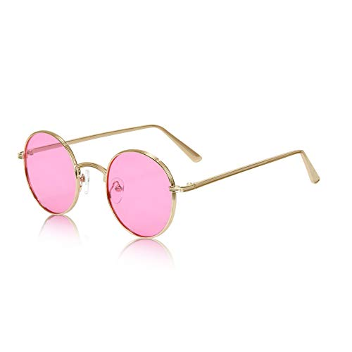 Hippie Glasses for Women Hippy Hipster 60's Sunglasses Quavo 70's Cool Rose ()