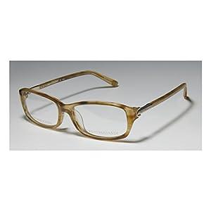 Trussardi 12504 Womens/Ladies Designer Full-rim Eyeglasses/Spectacles (54-15-135, Transparent Brown / Honey)