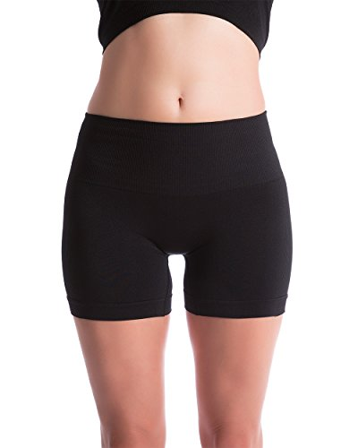 Homma Women's Seamless Compression Heathered Active Yoga Shorts Running Shorts Slim Fit (medium, black) - Womens Spandex Compression Shorts