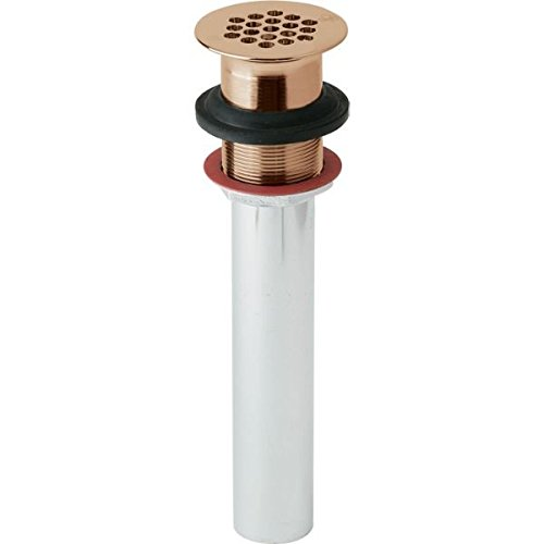 Elkay LK174LO-CU 1-1/2'' Drain Fitting Cuverro Antimicrobial Copper with Perforated Grid & Tailpiece
