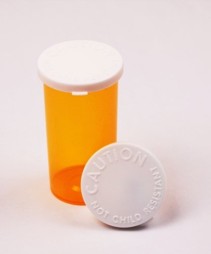 Sponix BioRx Amber Prescription Pharmacy Vials - 13 Dram - Snap Caps - Qty 360 (Medicine and Pill Container, Prescription Pharmacy Bottle, Pharmacy Container, Prescription Plastic Container) (Pharmacy Vial)