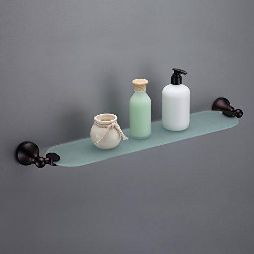 MAYKKE Powell Glass Shelf for Bathroom or Kitchen, Oil Ru...