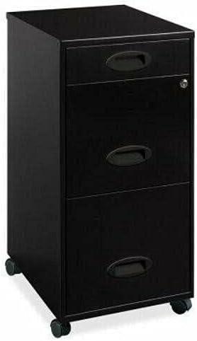 3-Drawer File Organizer, 3-Drawer, 14-1/4 x 18 x 27, Black Desk Organizer Desk Accessories Office Supplies Office Decor Office Organization Desk Organizers and Accessories Desk Decor Drawer Organizer
