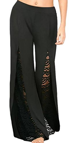 WSPLYSPJY Women's High Waist Side Split Wide Leg Pants
