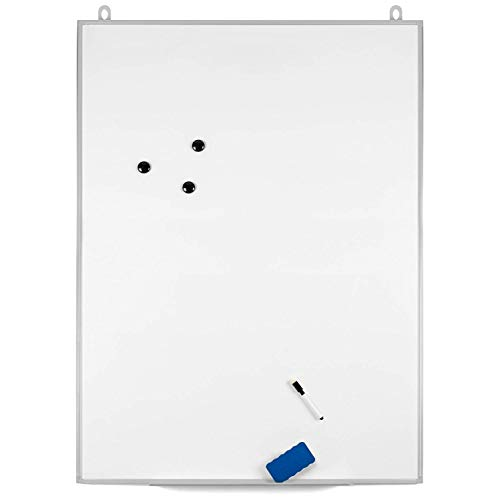 OfficePro Ultra-Slim, 36 x 48 Inch Lightweight Magnetic Dry Erase Board & Accessories (Includes Whiteboard Pen & Pen Tray, 3 x Magnets & Eraser) by OfficePro (Image #3)