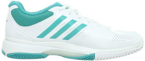 Adidas Adipower Barricade 7 Chaussure De Tennis Femme Blanc / Vert Eau 36 2/3
