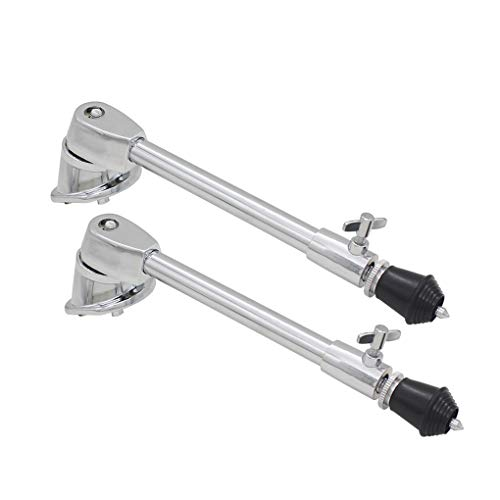 Metal Stand Bass - Loria 2PCS Metal Chrome Plated Anti-rust Stable Bass Drum Stands Spurs Legs Classic Curved Drum Bracket