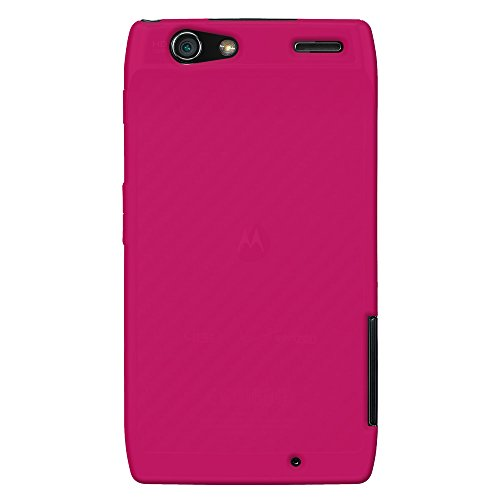 - Amzer Silicone Jelly Skin Fit Cover Case for Motorola DROID RAZR 1 pk-Case - Retail Packaging - Hot Pink
