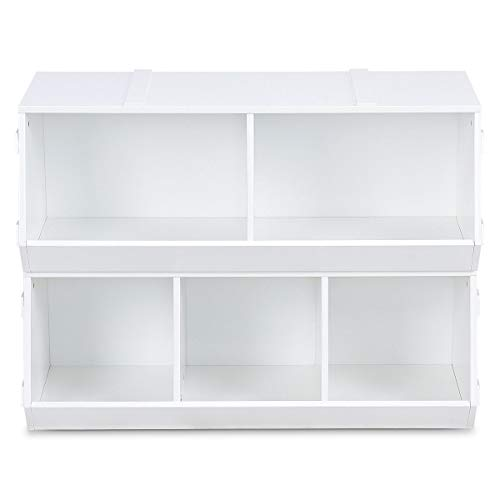 Kids Flexible Stackable Toy Box Organizer Storage Cabinet with ()