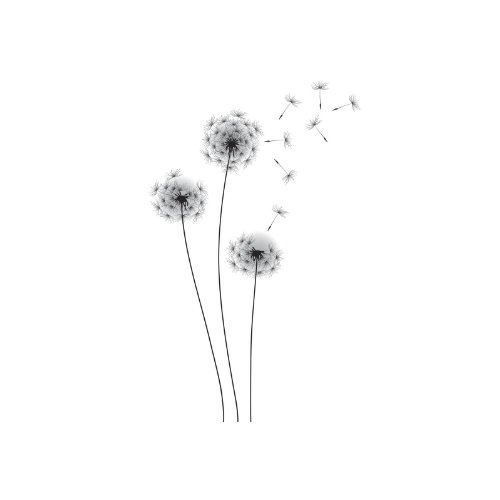 Peel Stick Wall Decals (RoomMates RMK2606GM  Whimsical Dandelion Peel and Stick Giant Wall Decals)