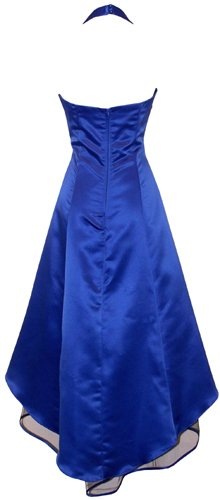 Pacificplex Women's Plus Size Satin Halter Prom Dress