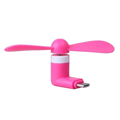 I-Sonite (Hot Pink) Mobile Cell Phone Portable Pocket Sized Fan Accessory Micro USB Connector For Samsung Galaxy A6 (3590 Cell Phones)