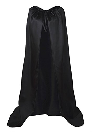 GOLDSTITCH Cape Costume Full Length Deluxe Adult Cape Cloak Knight Fancy Cool Cosplay Costume Black - http://coolthings.us