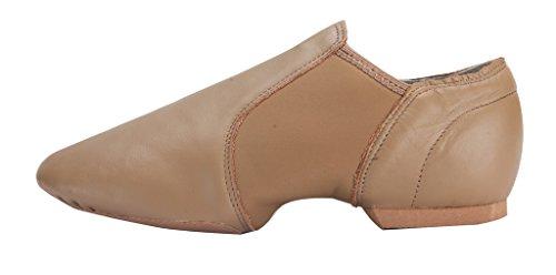 Zelt Leder Upper Jazz Schuh Slip-On Braun