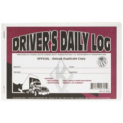 J.J. Keller Deluxe Drivers Daily Log Book - 601LD - Pack of 4
